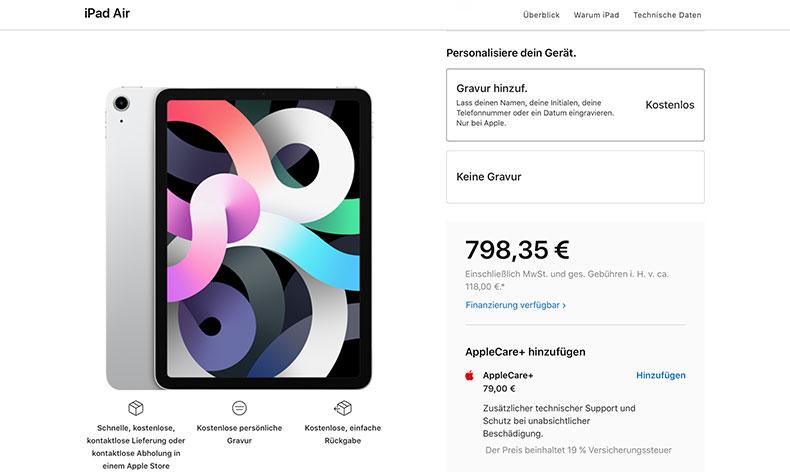 iPad Air Preis 2020